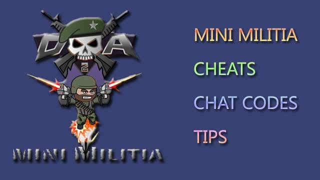 Mini Militia Cheats, Chat Codes, Tips and Tricks for Doodle Army 2 1