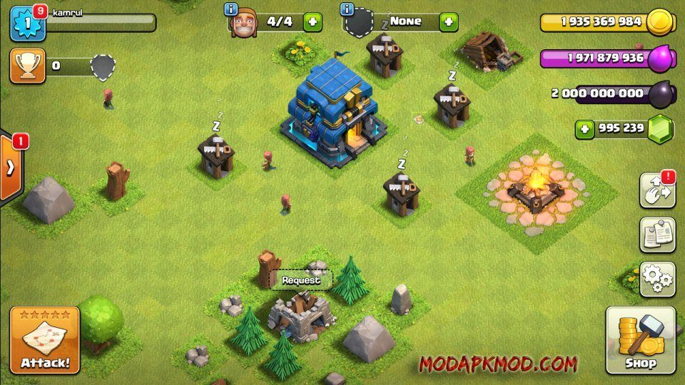 Clash of Clans Mod Apk Unlimited Gems elixir