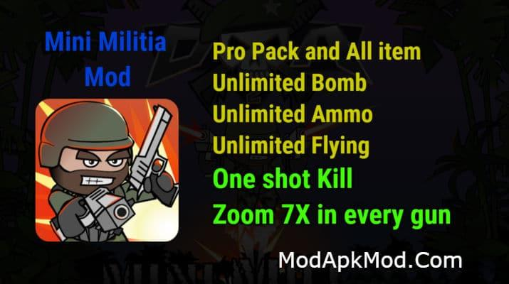 Mini Militia One shot kill Propack All store item Zoom 7x