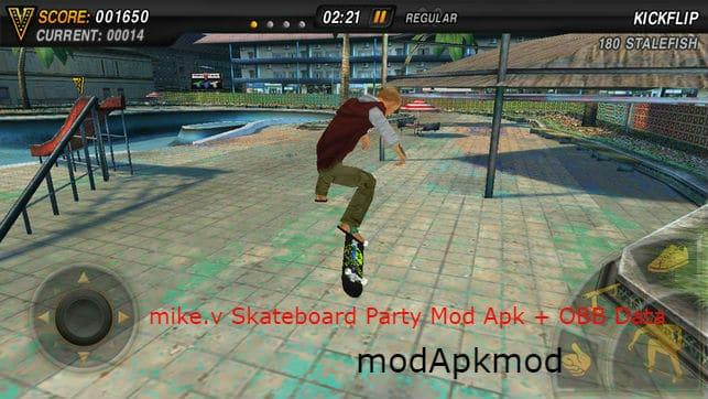 Mike V: Skateboard Party Mod Apk + OBB Data (Unlimited Money + All Items Unlocked) 2