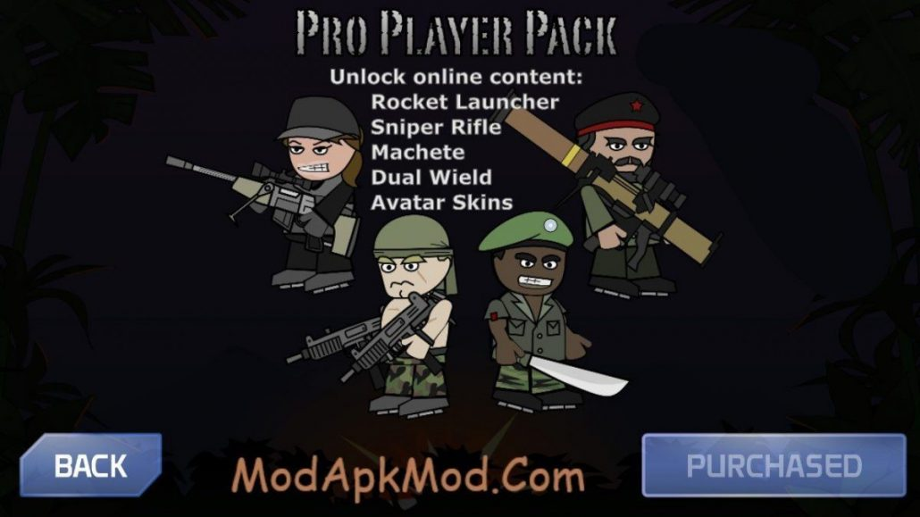 Mini Militia Pro Pack mod hack without Root