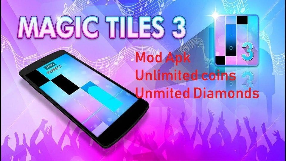 Magic Tiles 3 Mod Apk Unlimited coins and Diamond