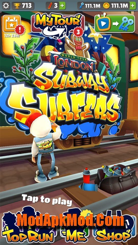 Subway Surfers Mod Apk (Unlimited Keys+Coins)