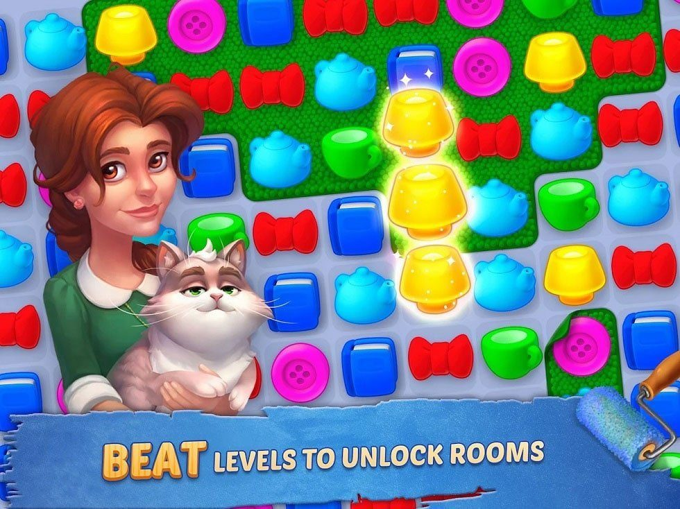 Homescapes Mod Apk Unlimited Stars and Coins