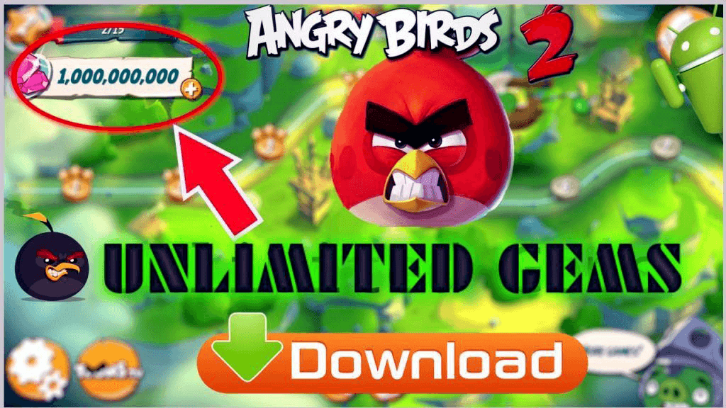 Angry Birds 2 MOD APK-Unlimited Everything