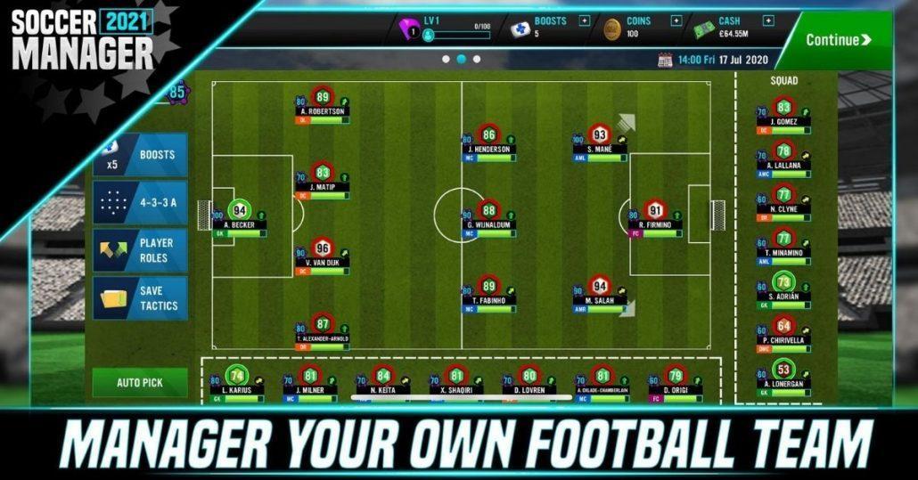 Soccer Manager 2021 MOD APK  v1.1.0 (Free ADS/Kits) Download 1